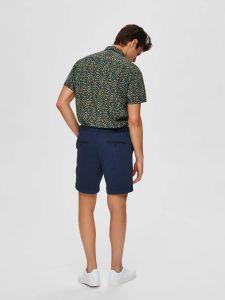 selected-miesten-shortsit-jersey-shorts-k-tummansininen-2