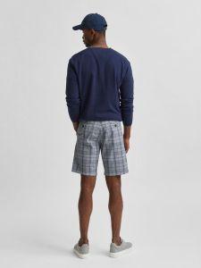 selected-miesten-shortsit-miles-flex-mix-shorts-sininen-ruutu-2