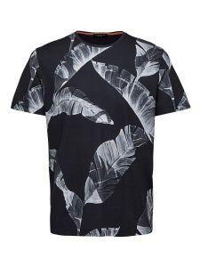 selected-miesten-t-paita-tony-aop-t-shirt-mustavalkoinen-2