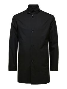 selected-miesten-takki-cole-flex-fit-coat-musta-1