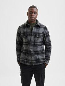 selected-miesten-takki-lumber-jacket-ad-harmaa-ruutu-1