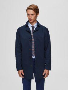 selected-miesten-takki-new-times-cotton-jacket-tummansininen-1