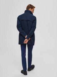 selected-miesten-takki-new-times-cotton-jacket-tummansininen-2