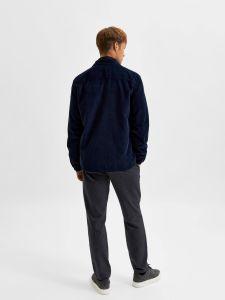 selected-miesten-vakosamettipaita-slhloosedecker-overshirt-ls-cord-tummansininen-2