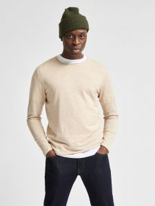 selected-neule-dome-crew-neck-beige-1