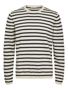 selected-neule-sal-stripe-crew-neck-raidallinen-valkoinen-1