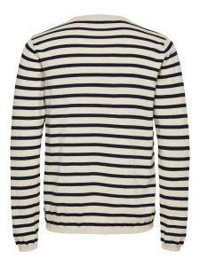 selected-neule-sal-stripe-crew-neck-raidallinen-valkoinen-2