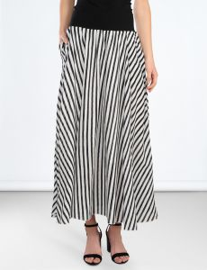 summum-naisen-hame-summer-skirt-cotton-raidallinen-musta-2