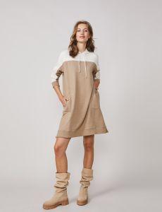 summum-naisten-hupparimekko-sweat-mekko-organic-beige-1