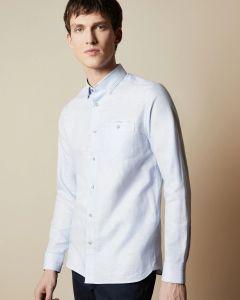 ted-baker-miesten-kauluspaita-linen-shirt-keskisininen-1