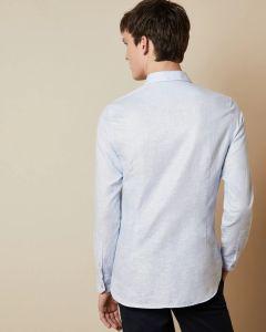 ted-baker-miesten-kauluspaita-linen-shirt-keskisininen-2