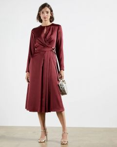 ted-baker-naisten-mekko-neenha-dress-viininpunainen-1