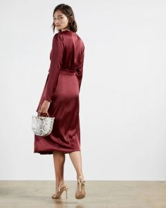 ted-baker-naisten-mekko-neenha-dress-viininpunainen-2