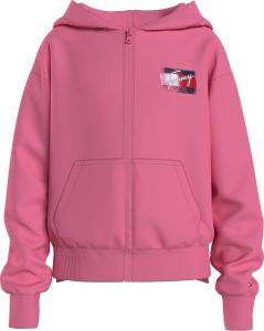 tommy-hilfiger-childrenswear-lasten-huppari-flag-print-zip-hoodie-pinkki-1