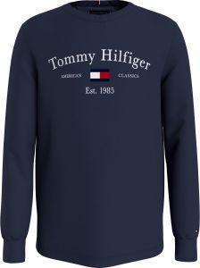 tommy-hilfiger-childrenswear-lasten-t-paita-th-artwork-tee-l-s-tummansininen-1