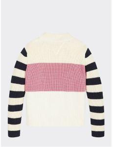 tommy-hilfiger-childrenswear-neule-chunky-stripe-mock-neck-valkopohjainen-kuosi-2