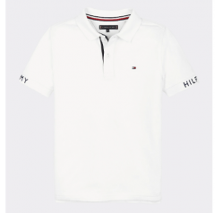 tommy-hilfiger-childrenswear-pikeepusero-sleeve-text-polo-ss-valkoinen-1