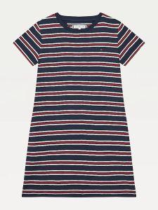 tommy-hilfiger-childrenswear-tyttojen-mekko-stripe-rib-dress-raidallinen-sininen-1