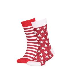 tommy-hilfiger-lasten-sukat-2-pack-stars-and-stripes-sock-punainen-kuosi-1