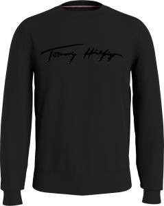 tommy-hilfiger-miesten-college-signature-crew-neck-musta-1