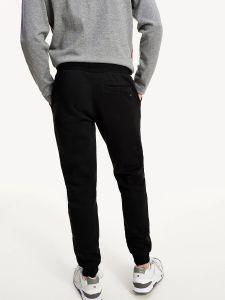 tommy-hilfiger-miesten-collegehousut-basic-branded-sweatpants-musta-2