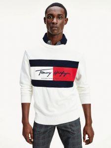 tommy-hilfiger-miesten-collegepaita-autograph-flag-sweater-valkoinen-1