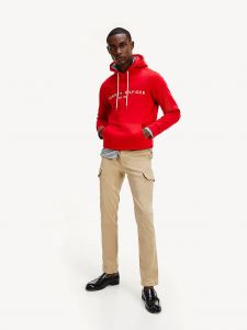 tommy-hilfiger-miesten-huppari-tommy-logo-hoodie-kirkkaanpunainen-1