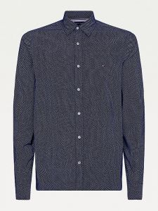 tommy-hilfiger-miesten-kauluspaita-slim-corduroy-mini-geo-prt-shirt-tummansininen-1