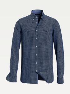 tommy-hilfiger-miesten-kauluspaita-slim-micro-twill-shirt-sininen-kuosi-1