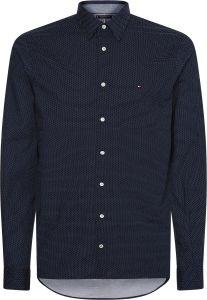 tommy-hilfiger-miesten-paita-flex-poplin-mini-dot-shirt-sininen-kuosi-1