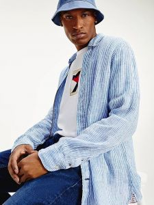 tommy-hilfiger-miesten-pellavapaita-linen-shirt-raidallinen-sininen-2