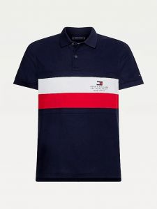 tommy-hilfiger-miesten-pikeepaita-chest-stripe-slim-pikee-raidallinen-sininen-1