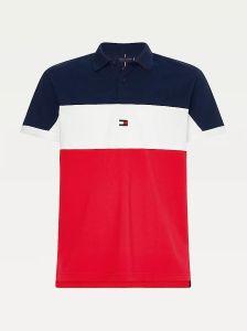 tommy-hilfiger-miesten-pikeepaita-colorblock-regular-polo-raidallinen-punainen-1