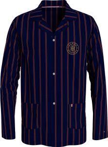 tommy-hilfiger-miesten-pyjamapaita-pj-shirt-woven-raidallinen-punainen-1