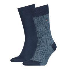 tommy-hilfiger-miesten-sukat-2-pack-sininen-kuosi-1