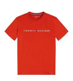 tommy-hilfiger-miesten-t-paita-cn-ss-tee-logo-kirkkaanpunainen-1