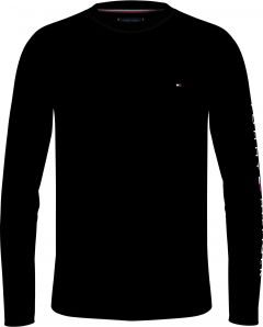 tommy-hilfiger-miesten-t-paita-tommy-logo-long-sleeve-tee-musta-1