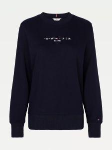 tommy-hilfiger-naisten-collegepaita-ess-hilfiger-sweatshirt-tummansininen-1