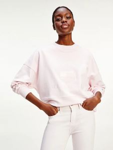 tommy-hilfiger-naisten-collegepaita-relaxed-tonal-sweatshirt-vaaleanpunainen-2