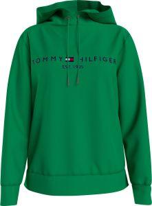 tommy-hilfiger-naisten-huppari-ess-hilfiger-hoodie-ls-ruohonvihrea-1
