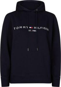 tommy-hilfiger-naisten-huppari-ess-hilfiger-hoodie-ls-tummansininen-1