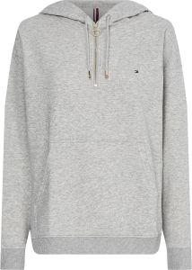 tommy-hilfiger-naisten-huppari-ess-relaxed-half-zip-hoodie-vaaleanharmaa-1