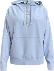 tommy-hilfiger-naisten-huppari-ess-relaxed-half-zip-hoodie-vaaleansininen-1