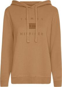 tommy-hilfiger-naisten-huppari-regular-flock-hoodie-kameli-1