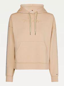 tommy-hilfiger-naisten-huppari-relaxed-grossgrain-hoodie-vaalea-beige-2