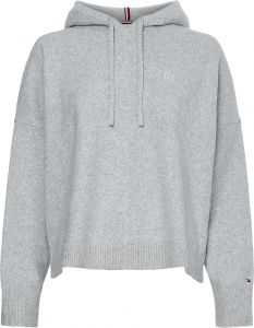 tommy-hilfiger-naisten-huppari-th-flex-hoodie-sweater-vaaleanharmaa-1