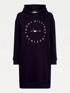 tommy-hilfiger-naisten-hupparimekko-circle-relaxed-hoodie-dress-tummansininen-1