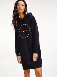 tommy-hilfiger-naisten-hupparimekko-circle-relaxed-hoodie-dress-tummansininen-2