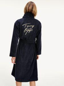 tommy-hilfiger-naisten-kylpytakki-bathrobe-gold-tummansininen-2