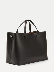 tommy-hilfiger-naisten-laukku-iconic-tommy-satchel-musta-2